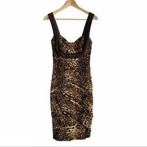 Tadashi Collection Leopard Print Sexy Dress Sz S
